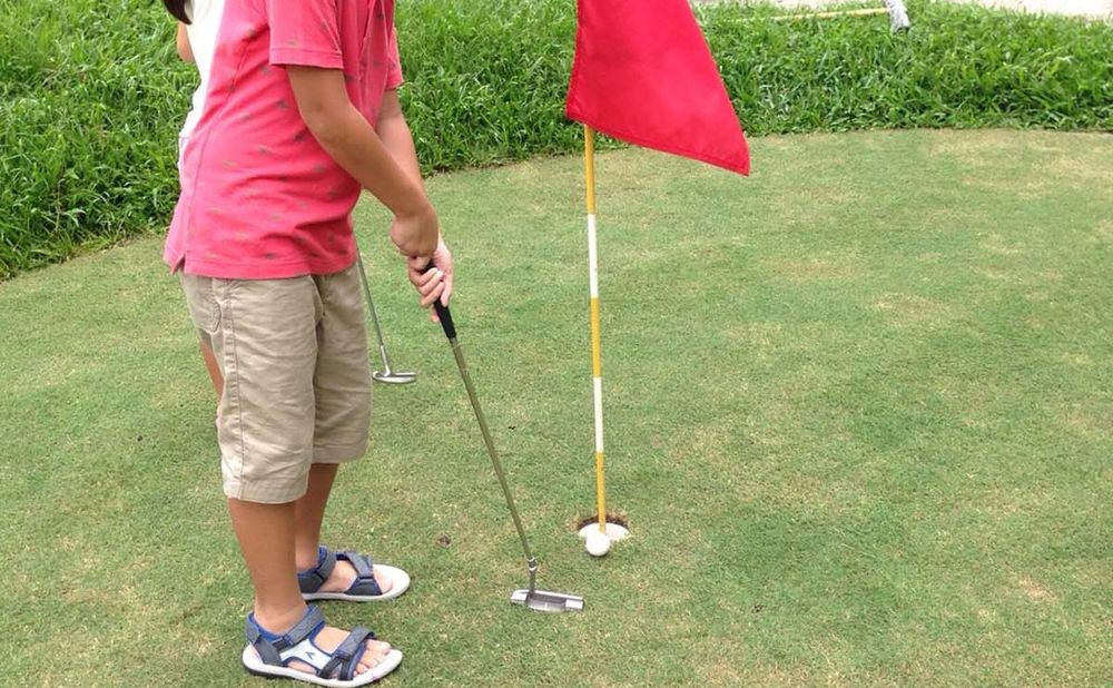 Children can also try their hands at the mini golf course