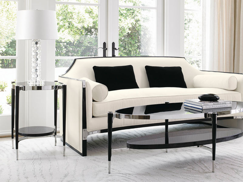 Taylor B white and black sofa